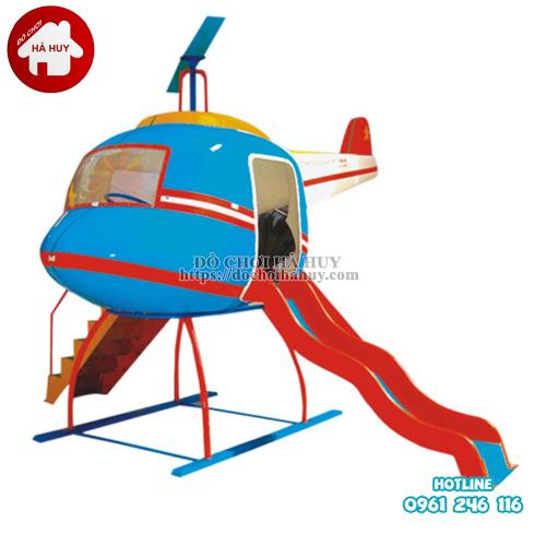 Cầu trượt ngoài trời hình máy bay trực thăng HB1-019-1
