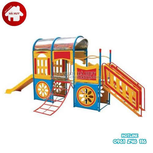 Cầu trượt tàu hỏa cho bé mầm non HB1-021-1