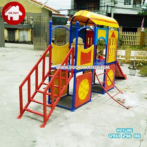 Cầu trượt tàu hỏa cho bé mầm non HB1-021-5
