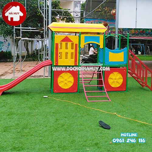Cầu trượt tàu hỏa cho bé mầm non HB1-021-8