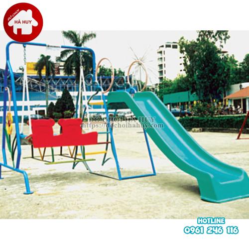 Cầu trượt xích đu đôi cho bé HB1-022-2