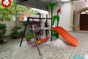 Lắp đặt cầu trượt kèm xích đu tại Nghệ An