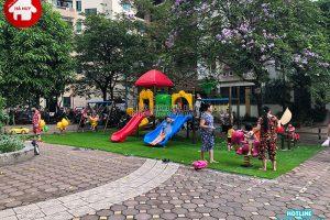 Sản xuất lắp đặt đồ chơi ngoài trời cho sân chơi chung cư ở Hà Nội