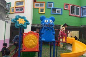 Sản xuất lắp đặt nhà chòi cầu trượt cho các trường mầm non ở Hà Nội